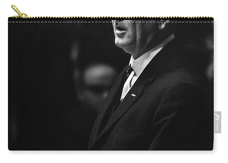 1963 Carry-all Pouch featuring the photograph Lyndon Baines Johnson by Granger