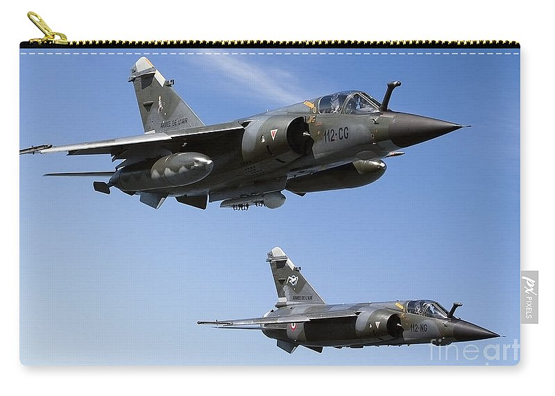 Evreux Carry-all Pouch featuring the photograph Mirage F1cr Of The French Air Force by Gert Kromhout