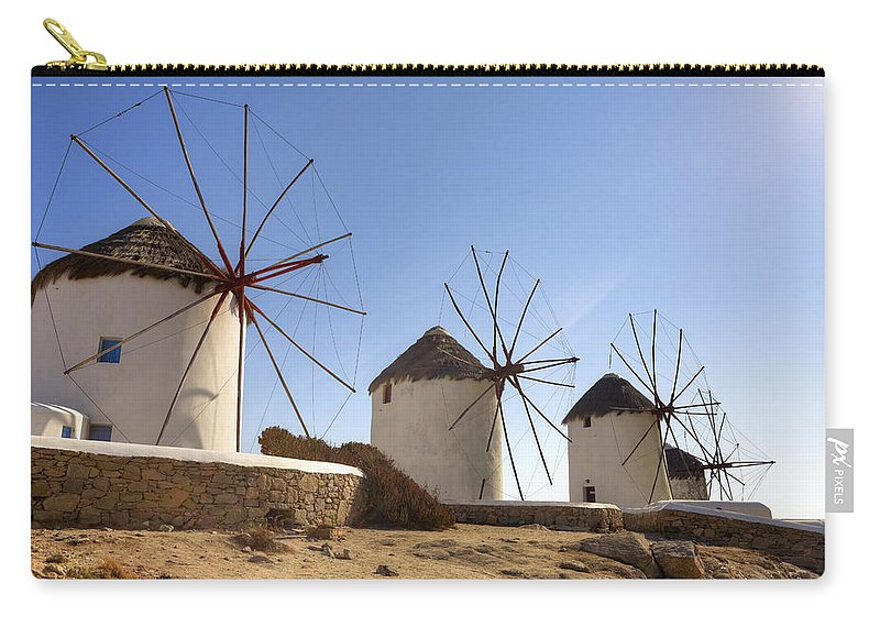 Windmills Carry-all Pouch featuring the photograph Mykonos by Joana Kruse