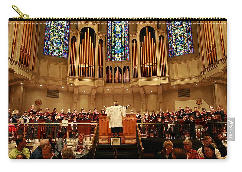 Choir St. James Cathedral Carry-all Pouch featuring the photograph St James Cathedral by Mike Penney