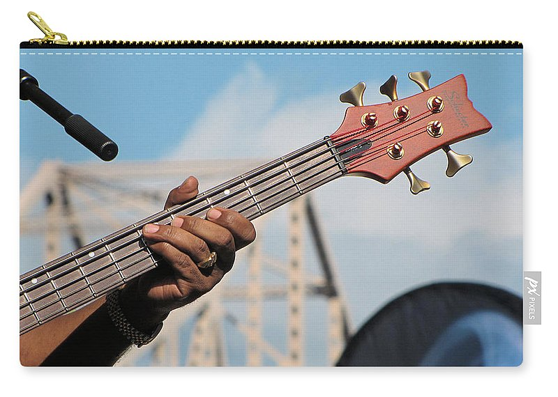 Guitar Carry-all Pouch featuring the photograph 5-string Bass by C H Apperson