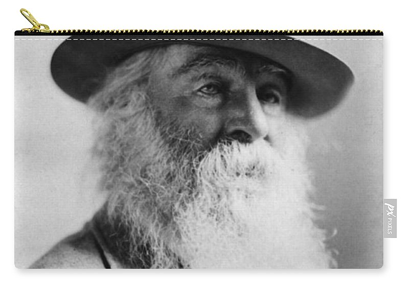 1879 Carry-all Pouch featuring the photograph Walt Whitman (1819-1892) by Granger