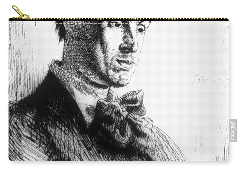 1907 Carry-all Pouch featuring the photograph William Butler Yeats by Granger