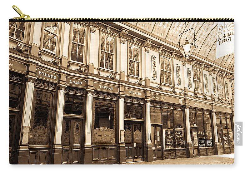 Leadenhall Carry-all Pouch featuring the photograph Leadenhall Market London by David Pyatt