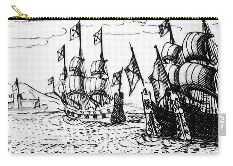 1588 Carry-all Pouch featuring the photograph Spanish Armada, 1588 by Granger