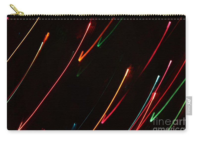 Abstract Carry-all Pouch featuring the photograph Abstract Motion Lights by Henrik Lehnerer