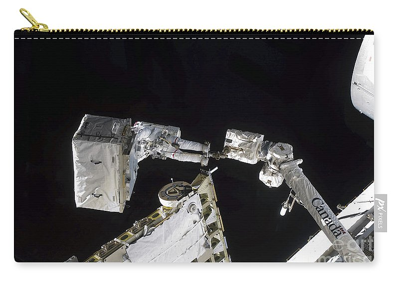 Specialist Carry-all Pouch featuring the photograph Astronaut Participates by Stocktrek Images