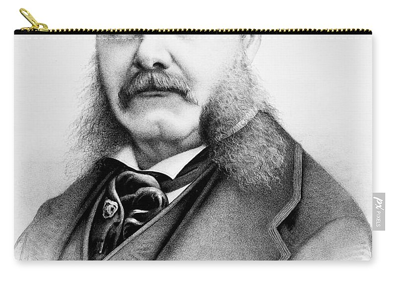1880 Carry-all Pouch featuring the photograph Chester Alan Arthur by Granger