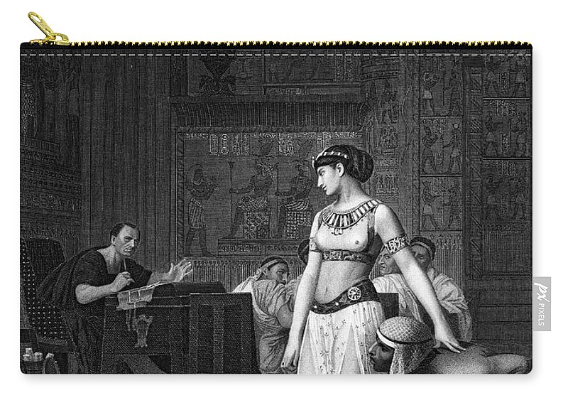48 B.c Carry-all Pouch featuring the photograph Cleopatra Vii (69-30 B.c.) by Granger