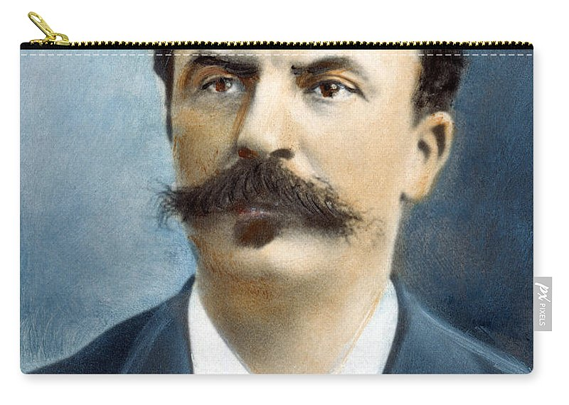 19th Century Carry-all Pouch featuring the photograph Guy De Maupassant by Granger