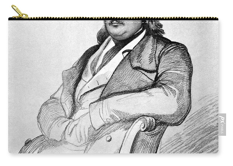 1845 Carry-all Pouch featuring the photograph Honore De Balzac (1799-1850) by Granger