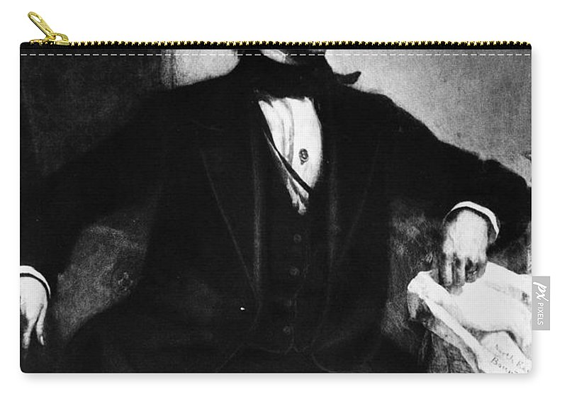 19th Century Carry-all Pouch featuring the photograph John Tyler (1790-1862) by Granger