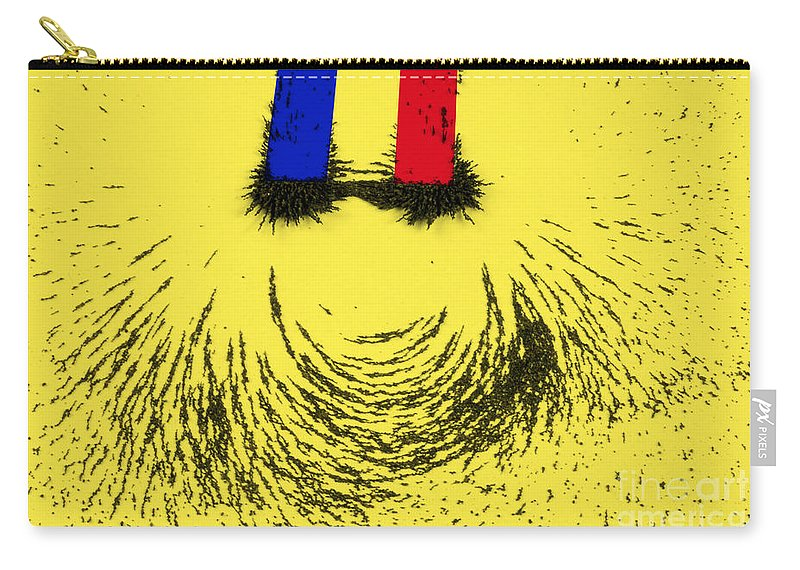 Magnet Carry-all Pouch featuring the photograph Magnetic Attraction by Photo Researchers, Inc.
