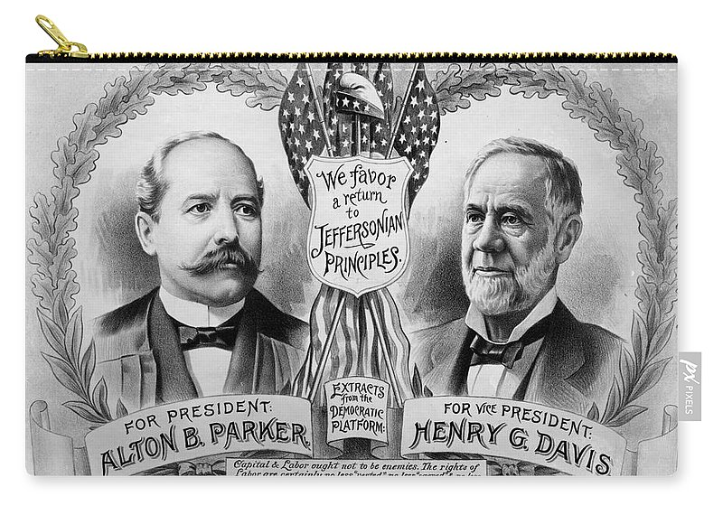 1904 Carry-all Pouch featuring the photograph Presidential Campaign, 1904 by Granger