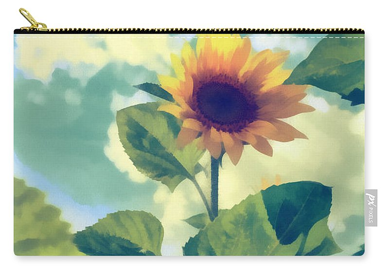 Art Carry-all Pouch featuring the photograph Sunflower by Michael Goyberg