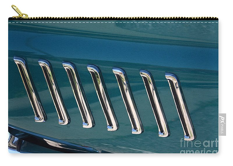 1965 Carry-all Pouch featuring the photograph 65 Plymouth Satellite Accent-8509 by Gary Gingrich Galleries