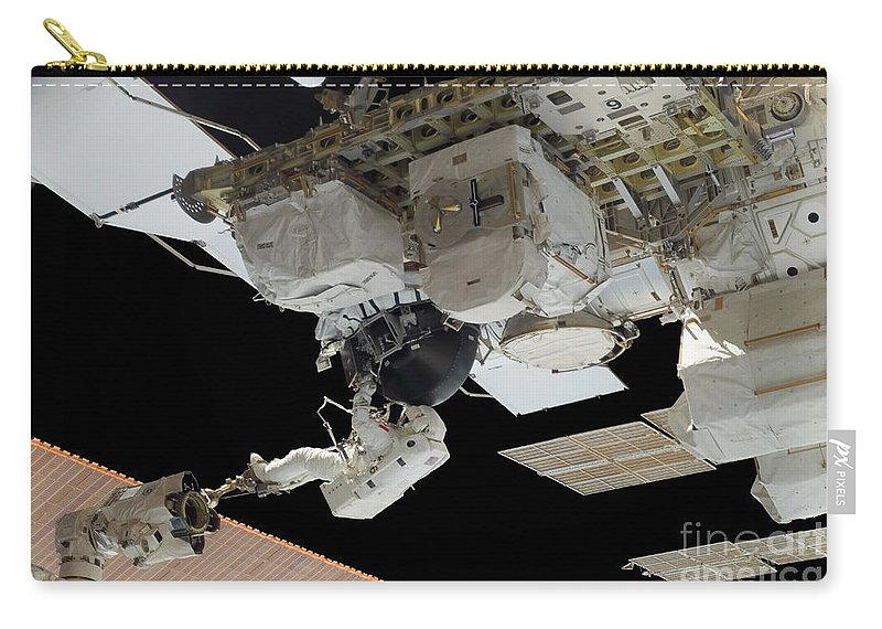 Adults Only Carry-all Pouch featuring the photograph Astronaut Participates by Stocktrek Images