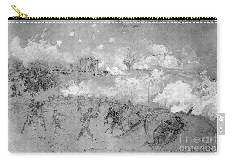 1863 Carry-all Pouch featuring the photograph Civil War: Gettysburg by Granger
