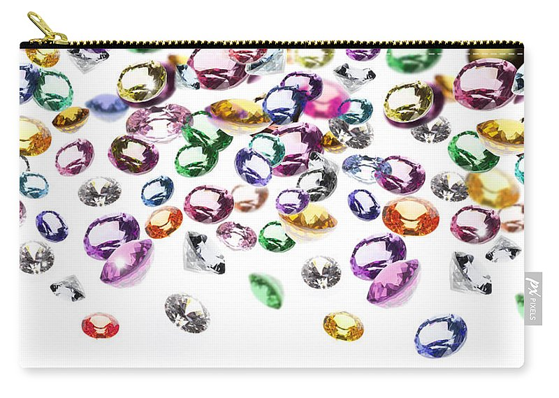 Aquamarine Carry-all Pouch featuring the photograph Colorful Gems by Setsiri Silapasuwanchai