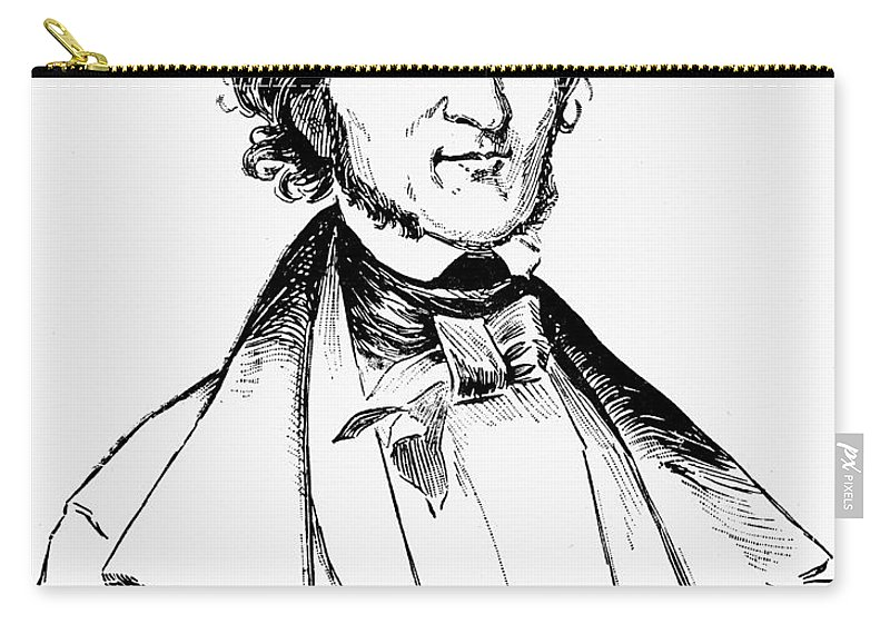 19th Century Carry-all Pouch featuring the photograph Edgar Allan Poe (1809-1849) by Granger