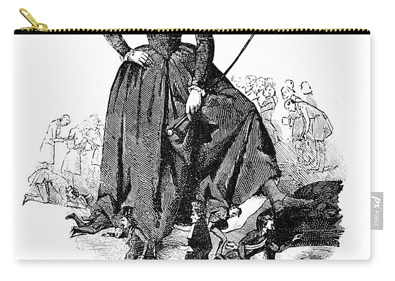 1848 Carry-all Pouch featuring the photograph George Sand (1804-1876) by Granger