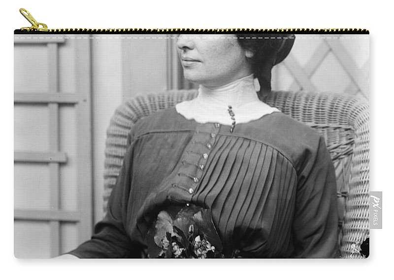 1910 Carry-all Pouch featuring the photograph Helen Adams Keller by Granger