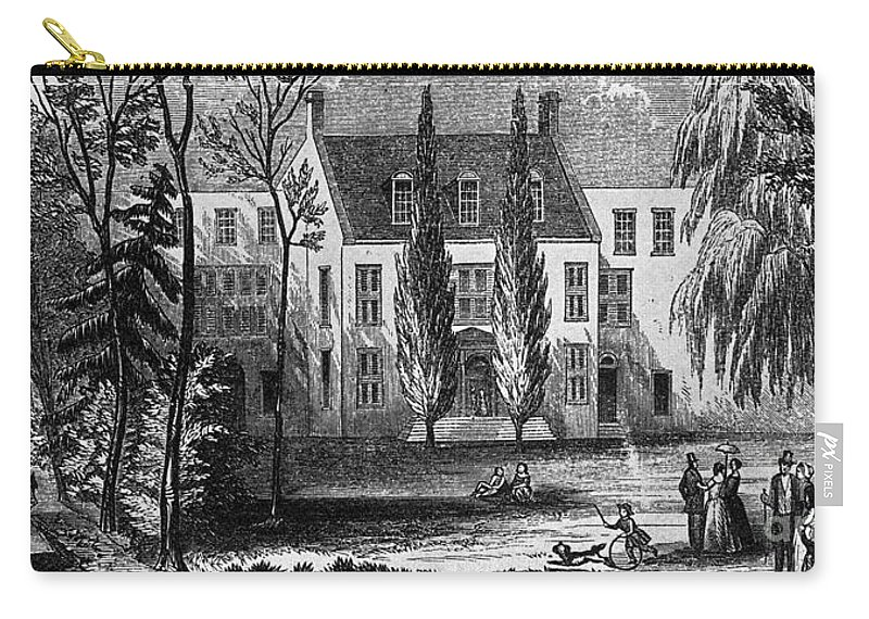 19th Century Carry-all Pouch featuring the photograph James Buchanan (1791-1968) by Granger