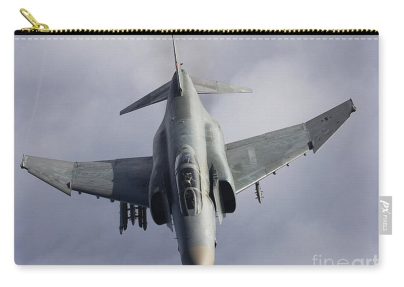 Germany Carry-all Pouch featuring the photograph Luftwaffe F-4f Phantom II by Gert Kromhout