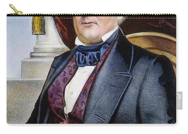 1856 Carry-all Pouch featuring the photograph Millard Fillmore (1800-1874) by Granger