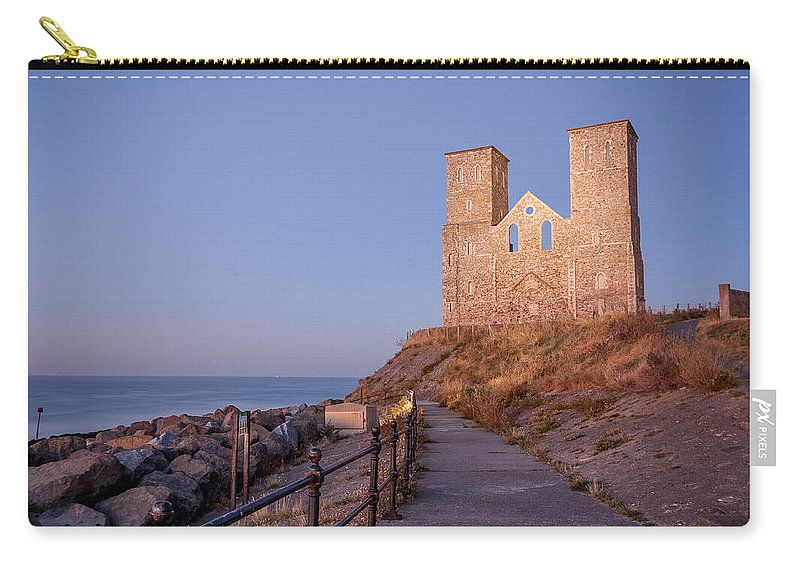 Church Carry-all Pouch featuring the photograph Reculver Towers by Dawn OConnor