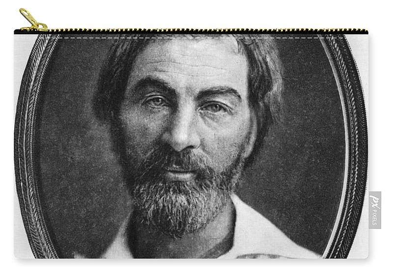 1854 Carry-all Pouch featuring the photograph Walt Whitman (1819-1892) by Granger