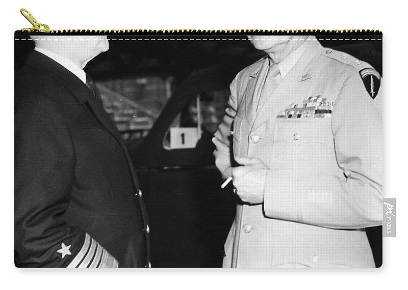 1945 Carry-all Pouch featuring the photograph Dwight D. Eisenhower by Granger