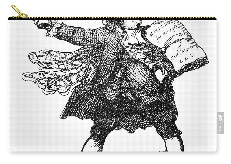 18th Century Carry-all Pouch featuring the photograph James Boswell (1740-1795) by Granger