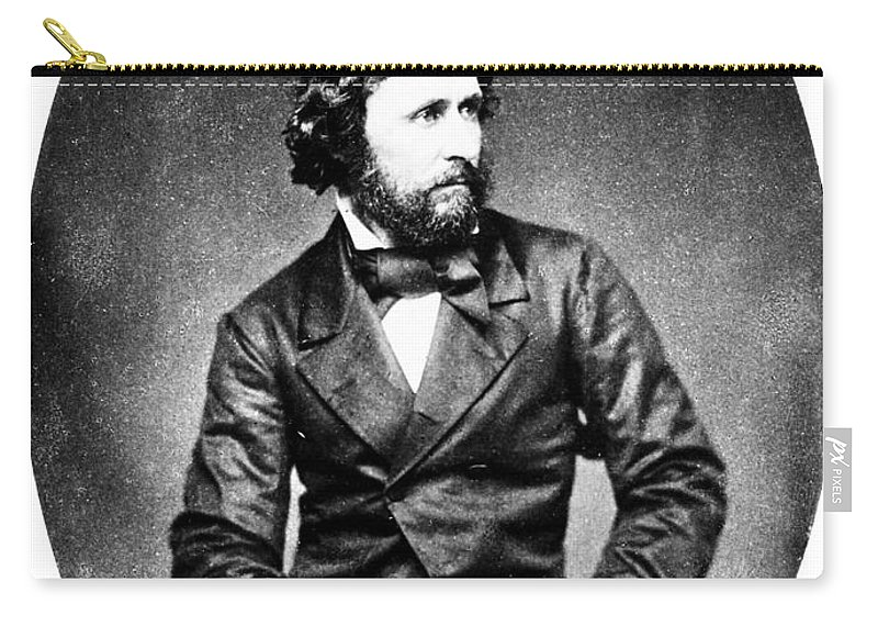 19th Century Carry-all Pouch featuring the photograph John C. Fremont (1813-1890) by Granger