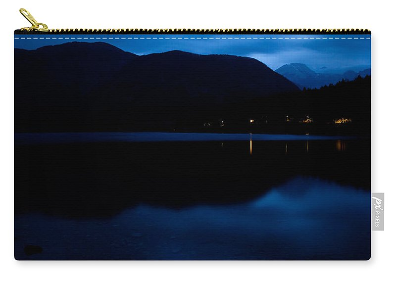 Bohinj Carry-all Pouch featuring the photograph Lake Bohinj At Dusk by Ian Middleton