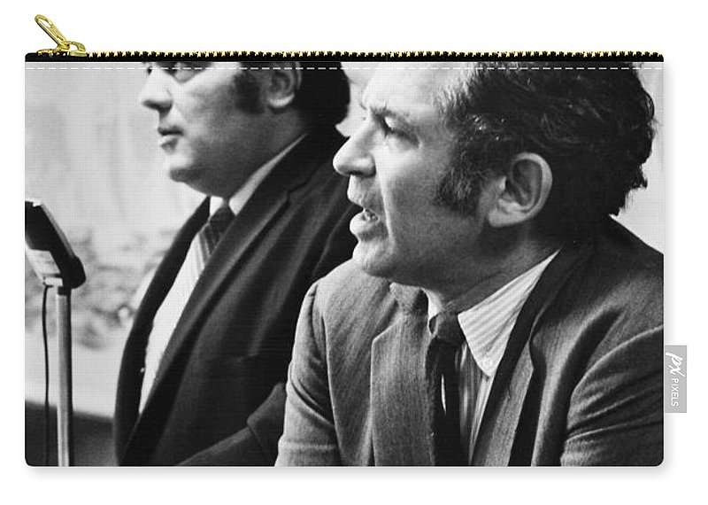 1969 Carry-all Pouch featuring the photograph Norman Mailer (1923-2007) by Granger