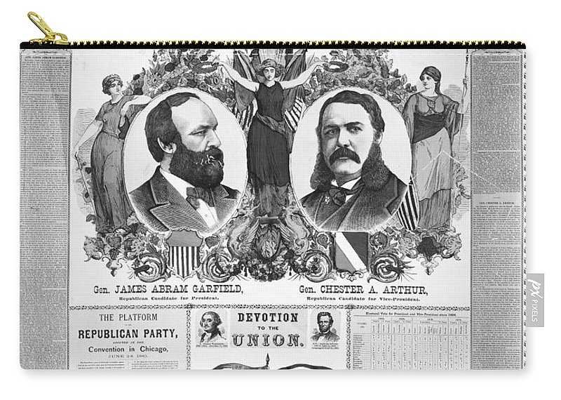 1880 Carry-all Pouch featuring the photograph Presidential Campaign, 1880 by Granger