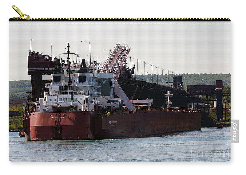 Duluth Carry-all Pouch featuring the photograph Presque Isle Ship by Lori Tordsen