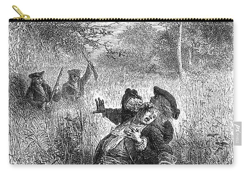 1687 Carry-all Pouch featuring the photograph Sieur De La Salle by Granger