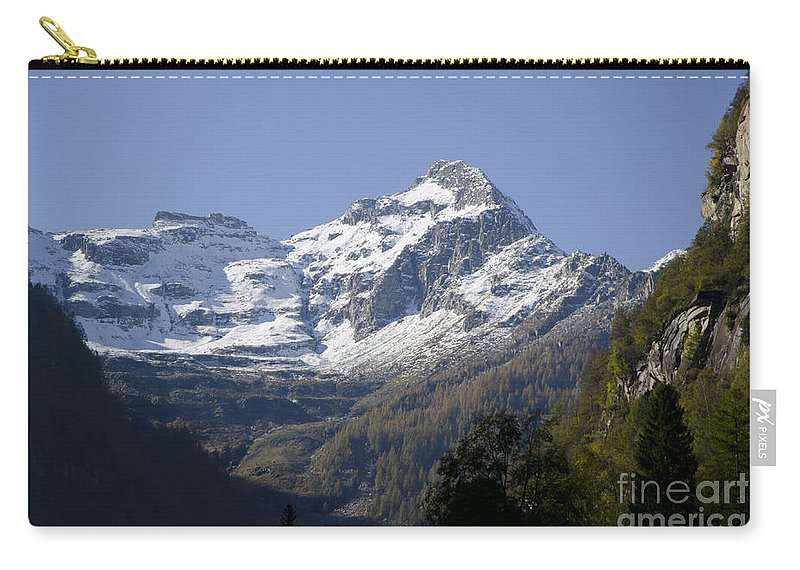 Mountain Carry-all Pouch featuring the photograph Snow-capped Mountain by Mats Silvan