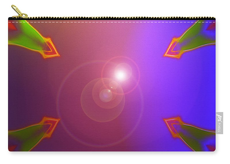 Warriors Eight 8 Abstract Color Colorful Painting Sun Sunlight Expressionism Carry-all Pouch featuring the digital art 8 Warriors by Steve K