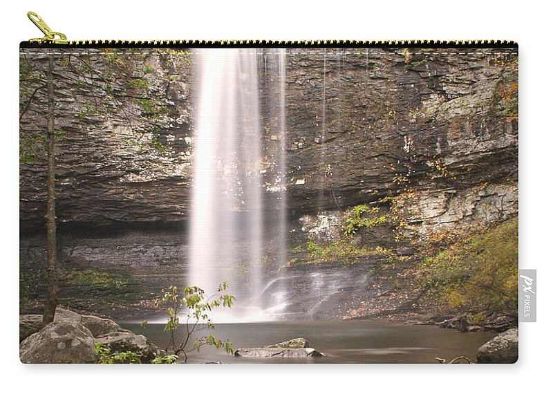 Waterfall Carry-all Pouch featuring the photograph Waterfall by David Troxel