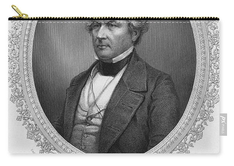 1850 Carry-all Pouch featuring the photograph Millard Fillmore (1800-1874) by Granger