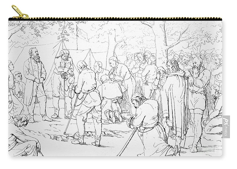 1863 Carry-all Pouch featuring the photograph Stonewall Jackson by Granger