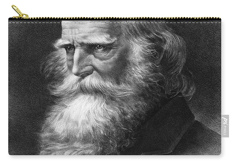 1884 Carry-all Pouch featuring the photograph William Cullen Bryant by Granger