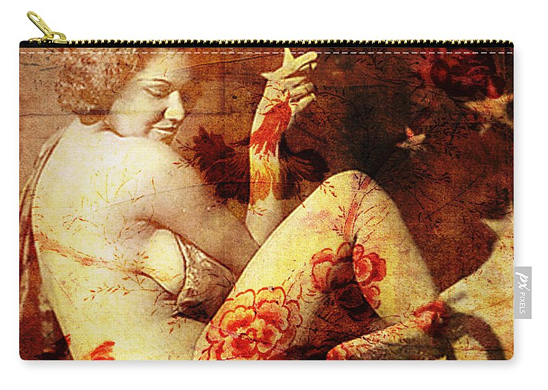 Nostalgic Seduction Carry-all Pouch featuring the photograph Winsome Woman by Chris Andruskiewicz