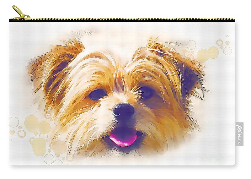 Graphics Carry-all Pouch featuring the digital art A 004 by Marek Lutek