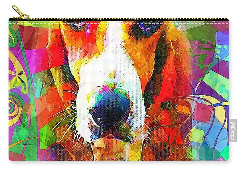 Graphics Carry-all Pouch featuring the digital art A 006 by Marek Lutek