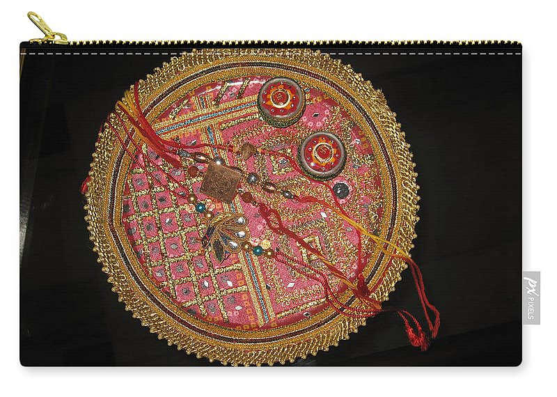 Rakhi Carry-all Pouch featuring the photograph A Bowl Of Rakhis In A Decorated Dish by Ashish Agarwal