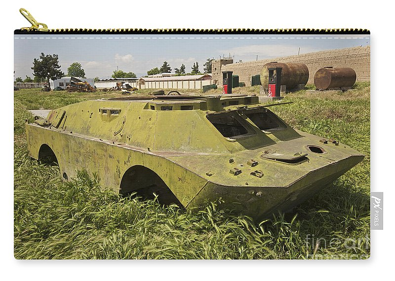 4x4 Carry-all Pouch featuring the photograph A Brdm-2 Combat Reconnaissancepatrol by Terry Moore